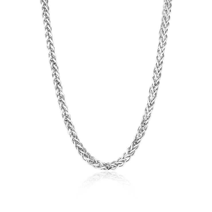 Sterling Silver 1.5mm Spiga Chain Necklace, 16 Inches