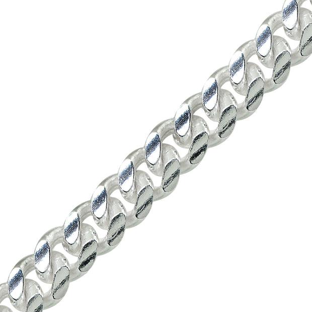Sterling Silver 4.5mm Miami Cuban Curb Link Chain Necklace, 22 Inches