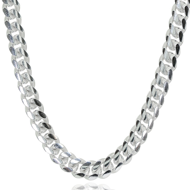 Sterling Silver 5mm Miami Cuban Curb Link Chain Necklace, 20 Inches