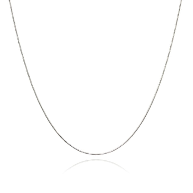 Sterling Silver Italian .75mm Snake Chain Necklace, 18 Inches