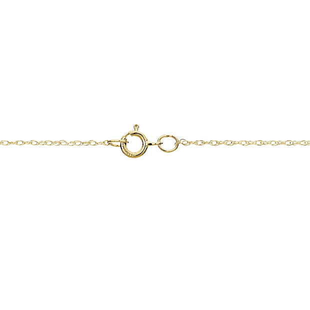 14k Yellow Gold .7mm Rope Chain Necklace, 20 Inches