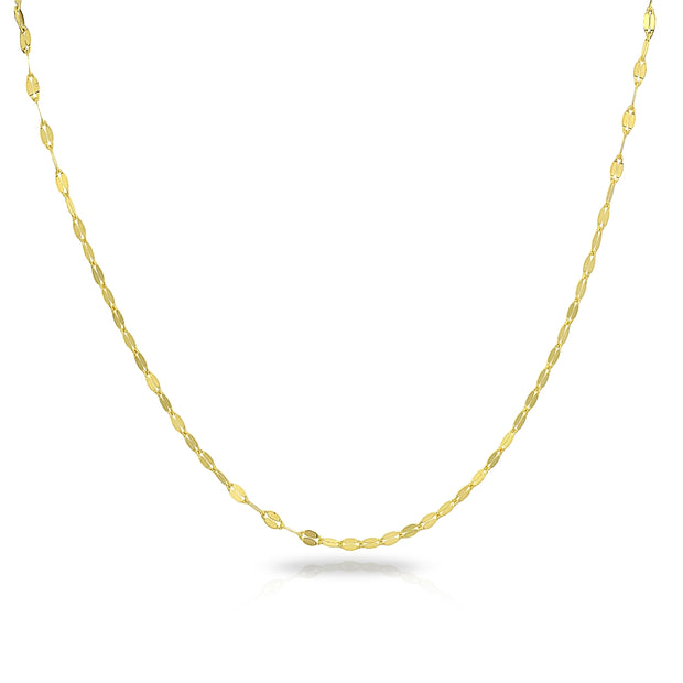 14K Gold Chain Mariner Italian Adjustable Necklace