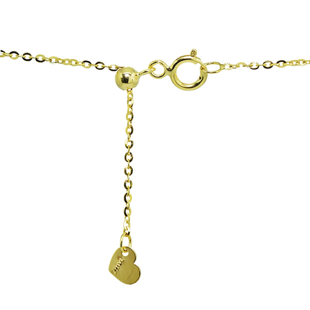 14K Gold Chain Twist Link Italian Choker Necklace