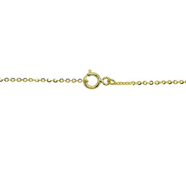 14K Gold Italian Dangling Mariner & Link Chains Pendant Necklace