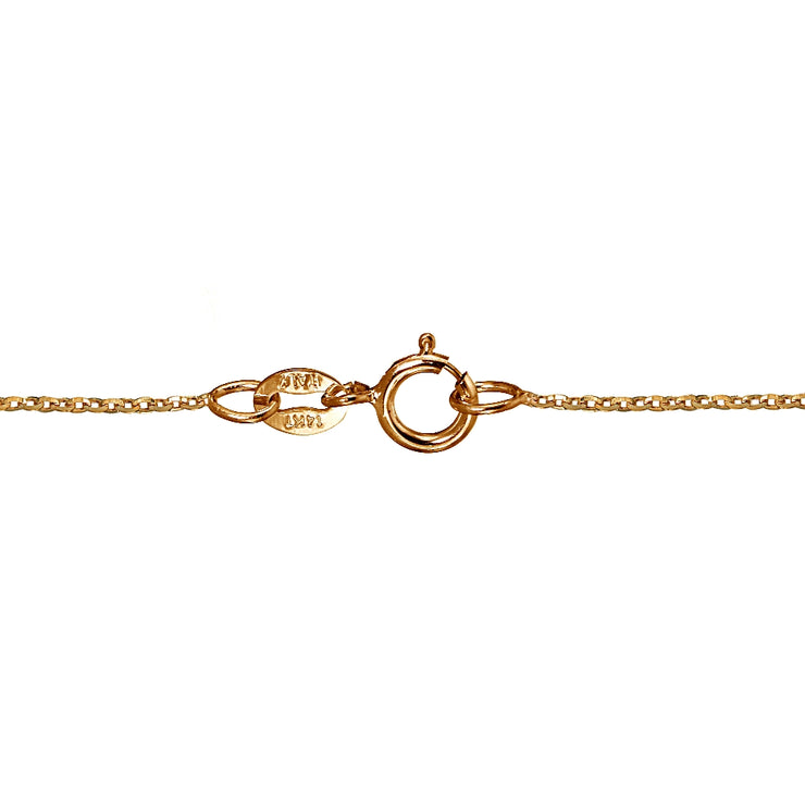 14K Rose Gold 1.4 Diamond-Cut Cable Italian Chain Necklace, 20 Inches