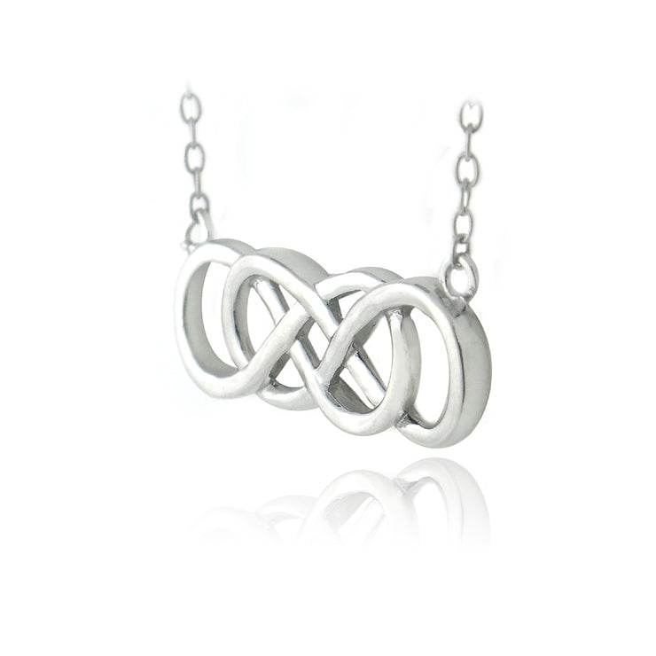 Sterling Silver Double Infinity Necklace