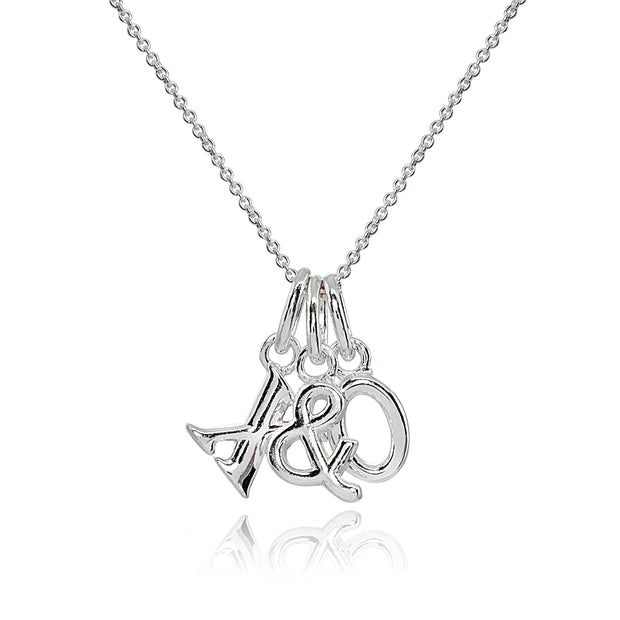 Sterling Silver Polished X&O Hugs and Kisses Charm Pendant Necklace