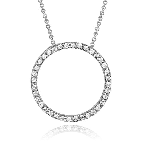 Silver Tone Swarovski Elements Eternity Necklace