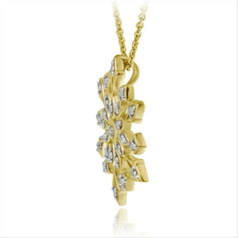 18k gold over sterling silver genuine diamond accent snowflake 18k gold over sterling silver genuine diamond accent snowflake pendant aloadofball Image collections