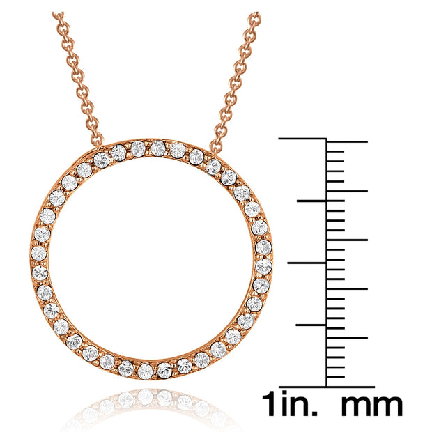 Rose Gold Tone Swarovski Elements Eternity Necklace