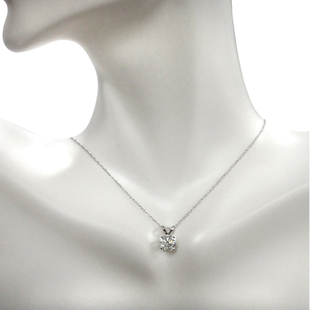 1/2 ct Round Diamond 14K Gold Solitaire Necklace (G-H, I2)