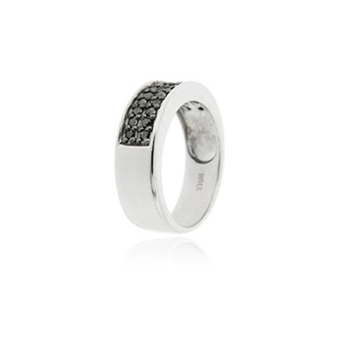 Sterling Silver 1/4 ct. tdw Black Diamond Band Ring
