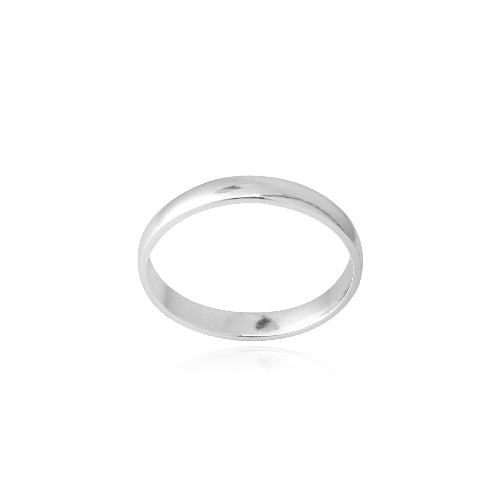 Sterling Silver 2.5mm Classic Wedding Band Ring
