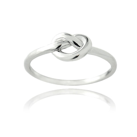 Sterling Silver Polished Love Knot Ring