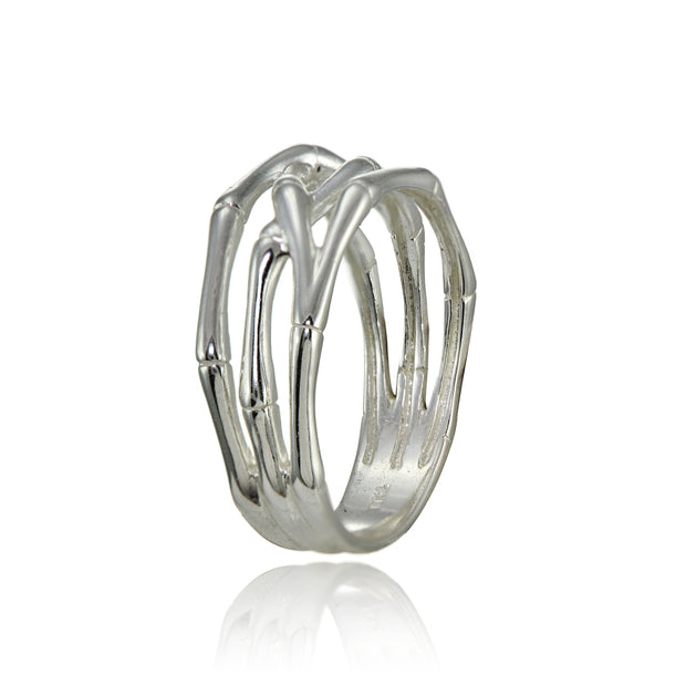Sterling Silver High Polished Bone Wrap Ring