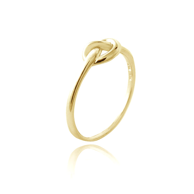1K Gold over Sterling Silver Polished Love Knot Ring
