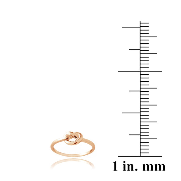 Rose Gold Tone over Sterling Silver Polished Love Knot Ring