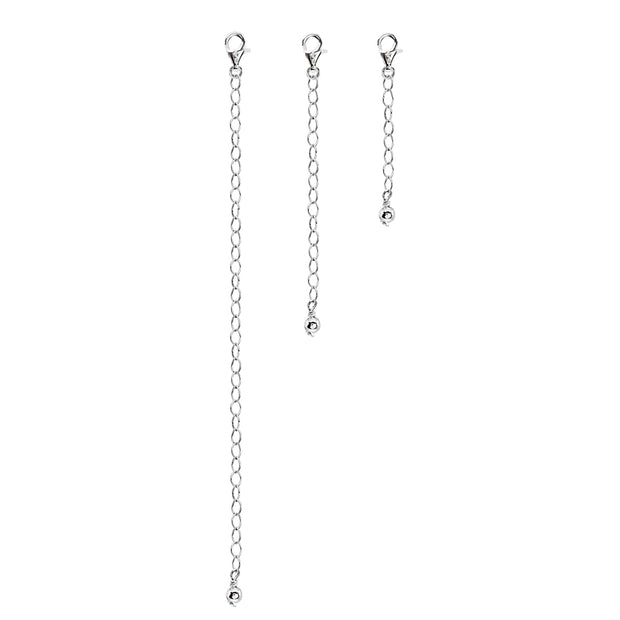 Sterling Silver Extender Chain Set Necklace
