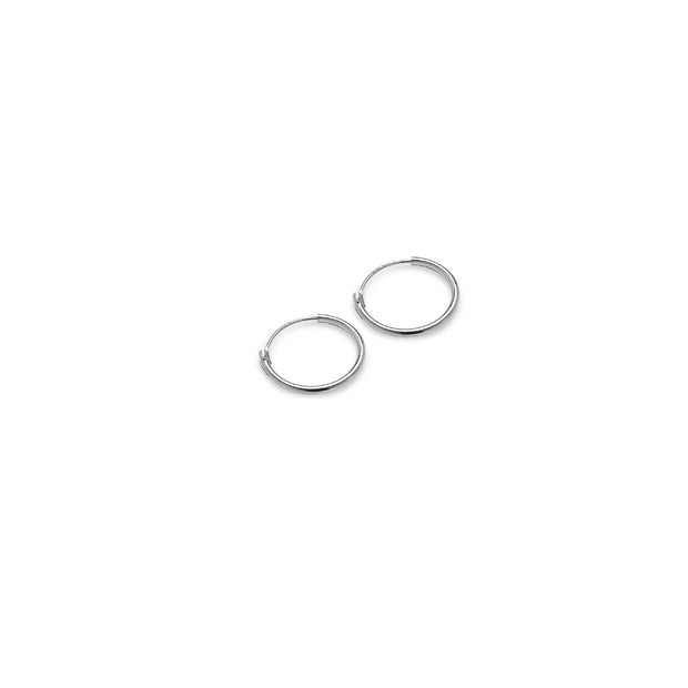Sterling Silver Set of Three Endless Hoop Earrings, 10mm