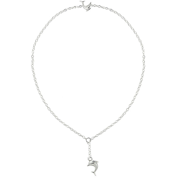 Sterling Silver Dolphins Anklet and Toe Ring Set