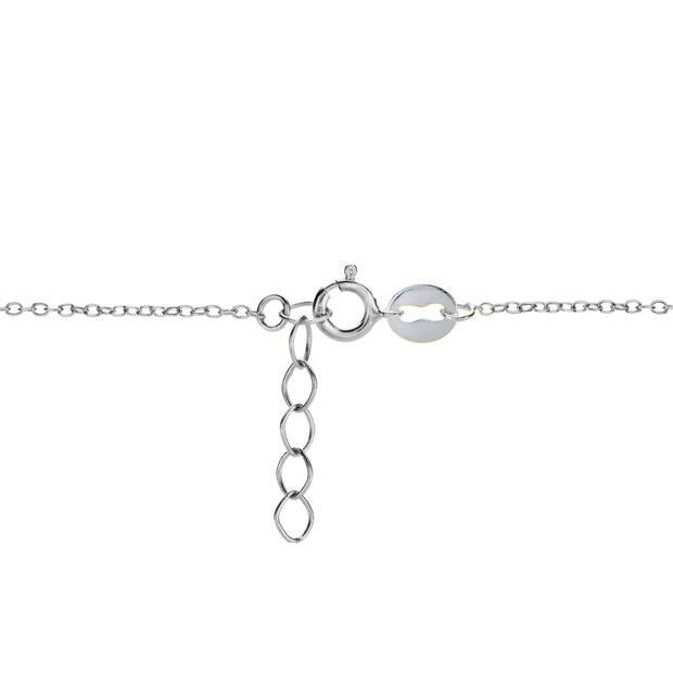 Sterling Silver Cubic Zirconia Anklet and Toe Ring Set