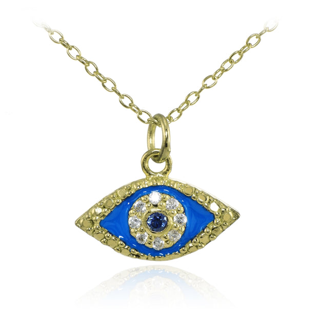 Gold Over Sterling Silver Evil Eye Holiday Gift Set