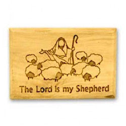 Olive Wood Magnet - The Lord is My Shepherd