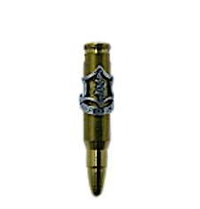 Brass Israeli Army Bullet Pendant with Air Force Insignia