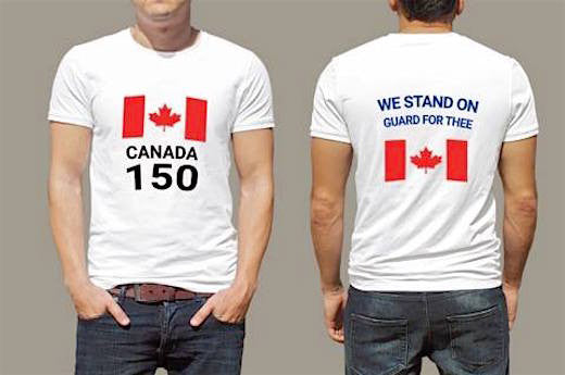 Celebrate Canada 150 Years T-Shirt.