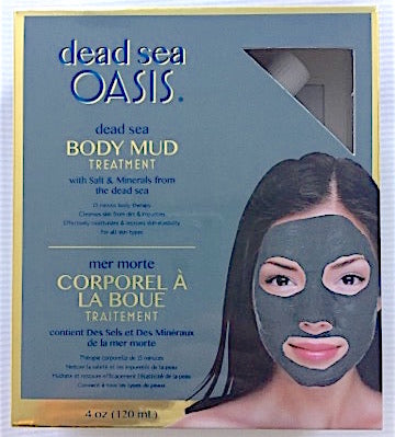 Dead Sea oasis mud treatment with salt and minerals from the Dead Sea