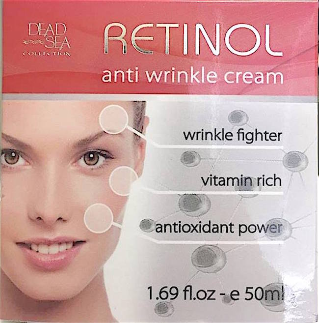 Retinol Anti Wrinkle Cream from the Dead Sea in Israel.