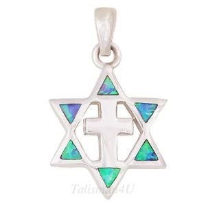 Star of David with Cross Pendant Necklace