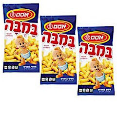 3 Osem Bamba Peanut Snack small.No.1 selling snack in Israel
