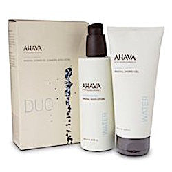 AHAVA Mineral Body Treatment Duo Kit: Shower Gel & Body Lotion