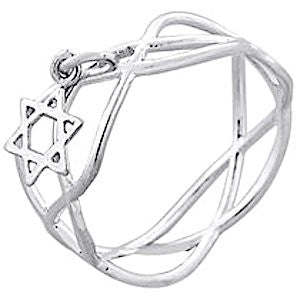 Delicate Sterling Silver Star of David Ring