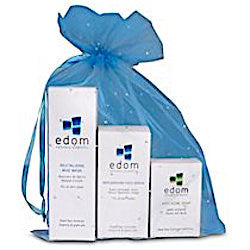 Edom Acne Treatment Kit: Replenishing Face Serum, Revitalizing Mud Mask, Anti-Acne Soap