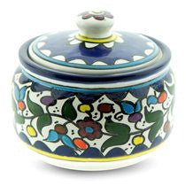 Flowers Sugar Bowl. Armenian Ceramic