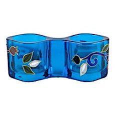 Glass Pomegranates Candle Holder (Blue)