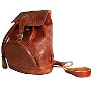 Handmade Leather Backpack - Jerusalem