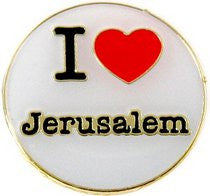 I Love Jerusalem Enamel Metal Lapel Pin