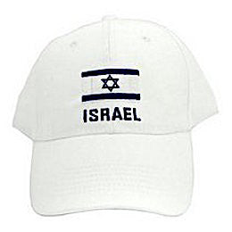Israel Flag Cap. Color: White