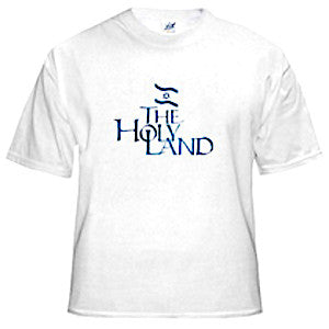 Israel T-Shirt - The Holy Land. White