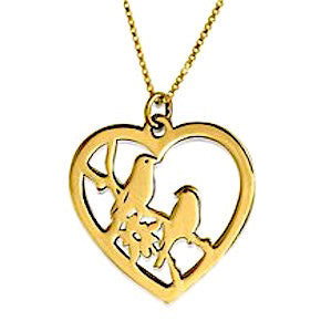 Love Birds Heart Necklace
