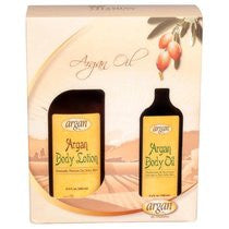 Natural Moroccan Argan Oil Kit: Body Lotion and Body Oil