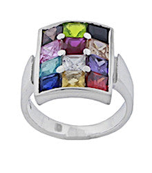 Silver Hoshen Ring with Gemstones