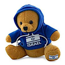 Teddy Bear with Israeli Flag Sweatshirt