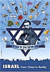 Theodor Herzl Poster - From Vision to Reality