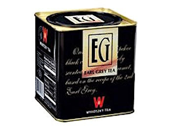 Wissotzky Earl Grey Tea. Loose tea leaves in a tin box