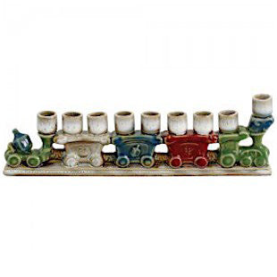 Ceramic Train Set Chanukiah