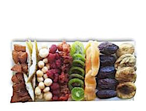 Colorful Array of Dried Fruits and Nuts